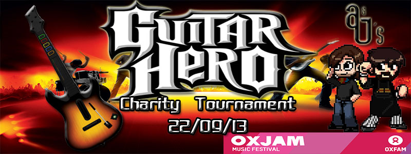 A&J's Guitar Hero Event Banner