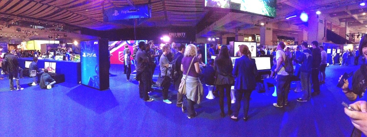 Another great panoramic shot of the Playstation area