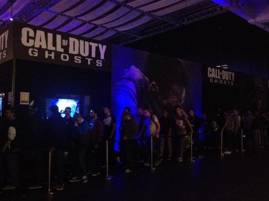 Call of Duty Ghosts was a popular stand with queue's round the stand