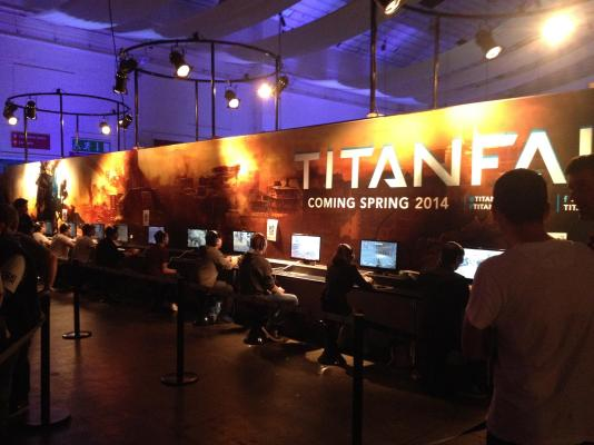 One of the most hotly anticipated titles on display. Titanfall was there to play