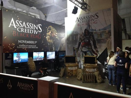 Assassins Creed 4, the next iteration in the franchise was available to play