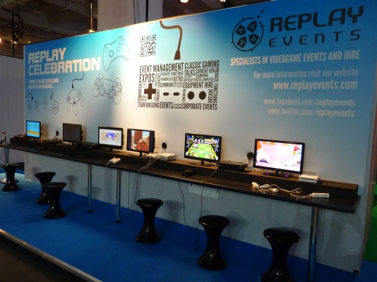 Replay Events were there again to show off gaming heritage at its best.