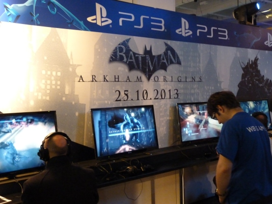 There were so many great titles that it was a gamers dream. Batman Arkham Origins was on display