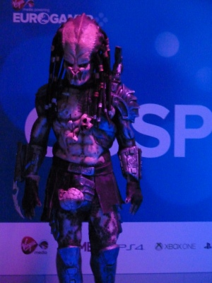 Some cosplayers took it a bit more seriously than others. This predator was impressive