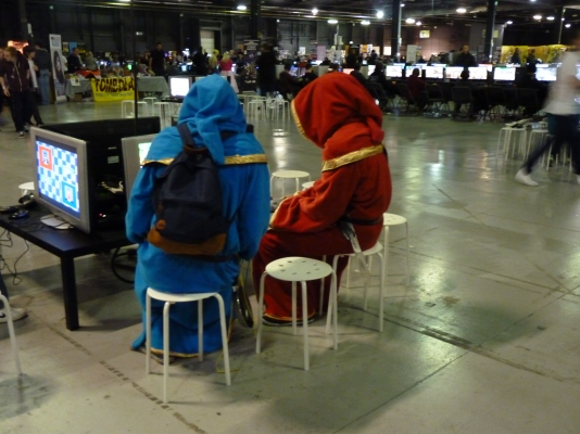 Its not everyday you see a couple of druids playing retro games
