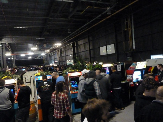 The event was full of every imaginable arcade machine