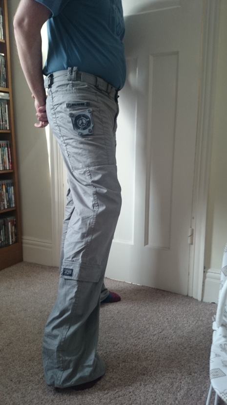 Me wearing Metal Gear Solid Collection Field Pants: Not the extra length in the legs