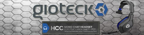 Gioteck HCC wired mono headset Banner