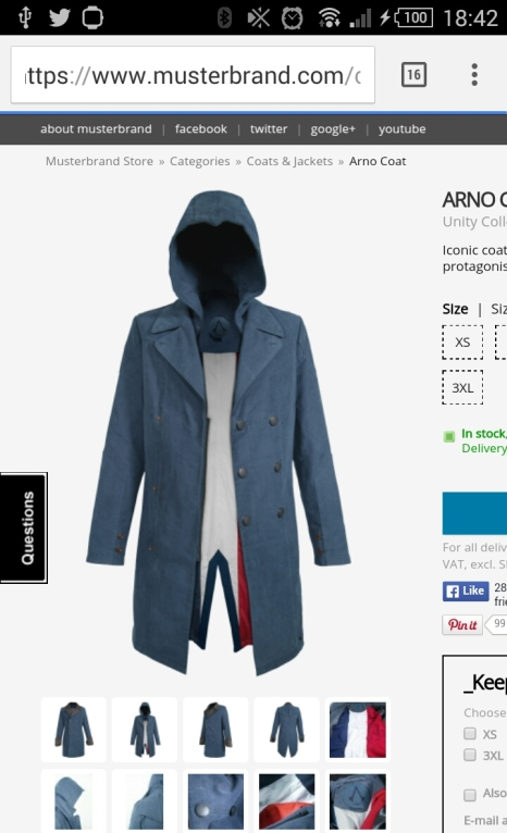 Unique Arno Coat that has two styles for price of one