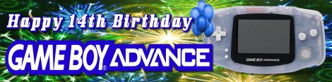 GameBoy Advance Birthday Banner