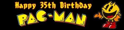 Happy Birthday Pac-Man Banner